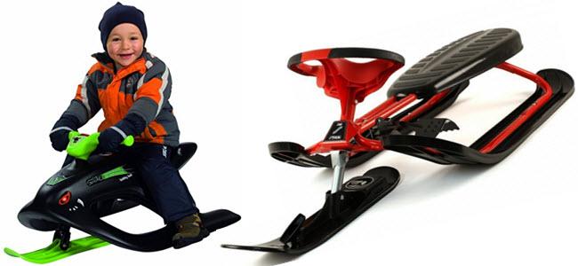 BIG Bobby-Bob & STIGA Schlitten Snow Racer Skibob