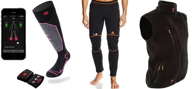 Bezeizbare Lenz Socken, Alpenheat heiz Unterhose und beheizbareWeste