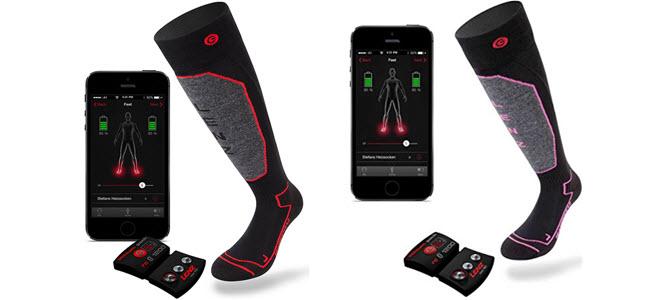 Lenz Lithium beheizbare Socken für Damen und Herre
