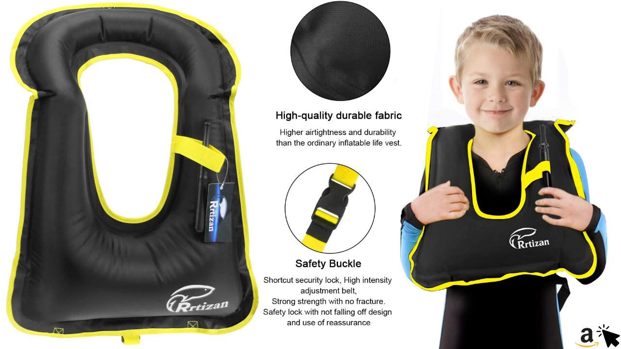 Rrtizan Schwimmweste Kinder, Schwimmen Jacke für Kinder und Kleinkinder von 1-9 Jahre