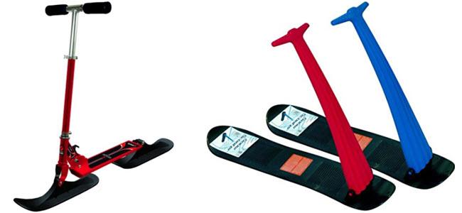 Schlitten-Tretroller Snow Kick Schneescooter